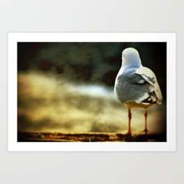 sitting, waiting, wishing Art Print