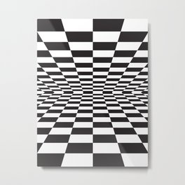 Black and white back and forth - Optical game 15 Metal Print