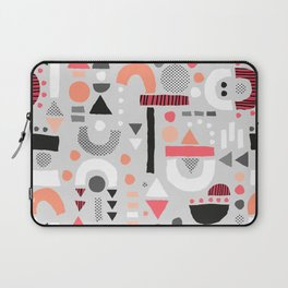 Tiny Inventor - Pink with Grey Laptop Sleeve