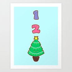 Count to Christmas Art Print