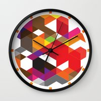 carnage Wall Clocks featuring Life like a Geometry by Sitchko Igor