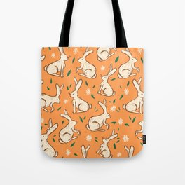 Bunnies in the orange grove Tote Bag