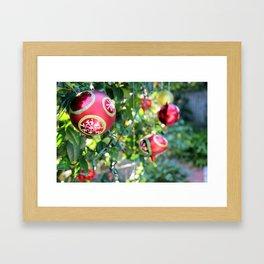 Christmas Bulbs Framed Art Print