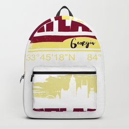Atlanta, Geogia Gifts  Distressed Coordinates Backpack