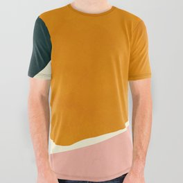 shapes geometric minimal painting abstract All Over Graphic Tee