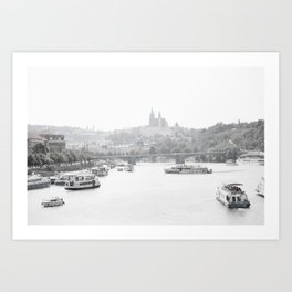 Prague in black and white Art Print