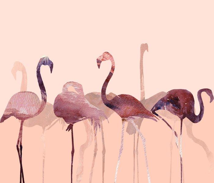 Flamingo's Summer Metal Travel Mug