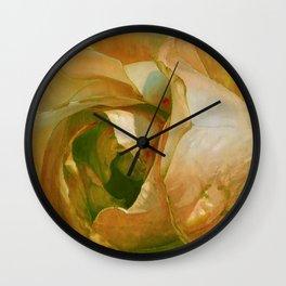 Floribunda Rose - Sun Bright Yellow Wall Clock