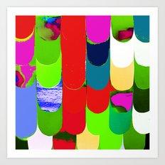 abstract art, pattern, print Art Print