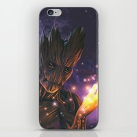 groot iPhone & iPod Skins featuring Groot by Aferova