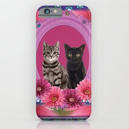 Two Cats Frame iPhone Case
