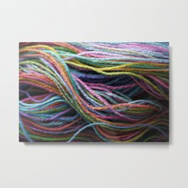 Rainbow Handspun Yarn / Multi-colored Metal Print