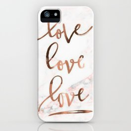Marble love iPhone Case