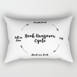 Book Hangover  Rectangular Pillow