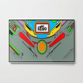Retro Pinball Metal Print