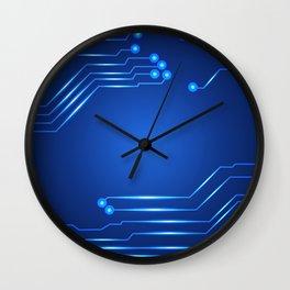 Hi tech circuit board. Wall Clock