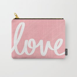 Love on Pink Carry-All Pouch
