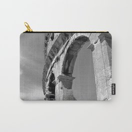 arena amphitheatre pula croatia ancient high black white Carry-All Pouch