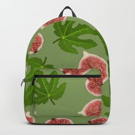Figs and Fig Leaves green Backpack