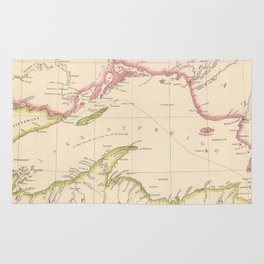 Vintage Map of Lake Superior (1832) Rug