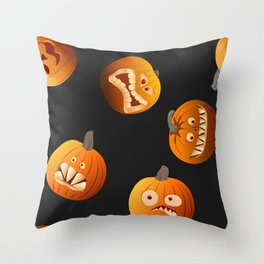 Funny pumpkins Throw Pillow