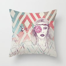 Candy Girl Pepe Psyche Throw Pillow