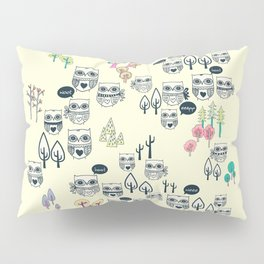 Forest Of Owls Pillow Sham