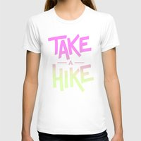 backpack T-shirts featuring Take A Hike by Zeke Tucker