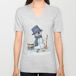 Little Snowman Unisex V-Neck