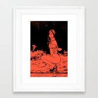bdsm Framed Art Prints featuring bdsm by illustratemyphoto