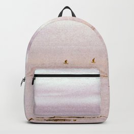 Pink Evening Sky by the Sea Backpack