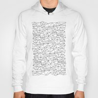 the wire Hoodies featuring Geometric Wire by Maiko Nagao