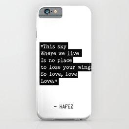 Hafez Persian quote iPhone Case