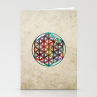 flower of life Stationery Cards featuring Flower of Life by Klara Acel
