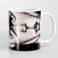 johnny depp Mugs featuring Johnny Depp by Devon Opp