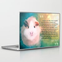 guinea pig Laptop & iPad Skins featuring A Guinea Pig's Love by Sarah Sangelus