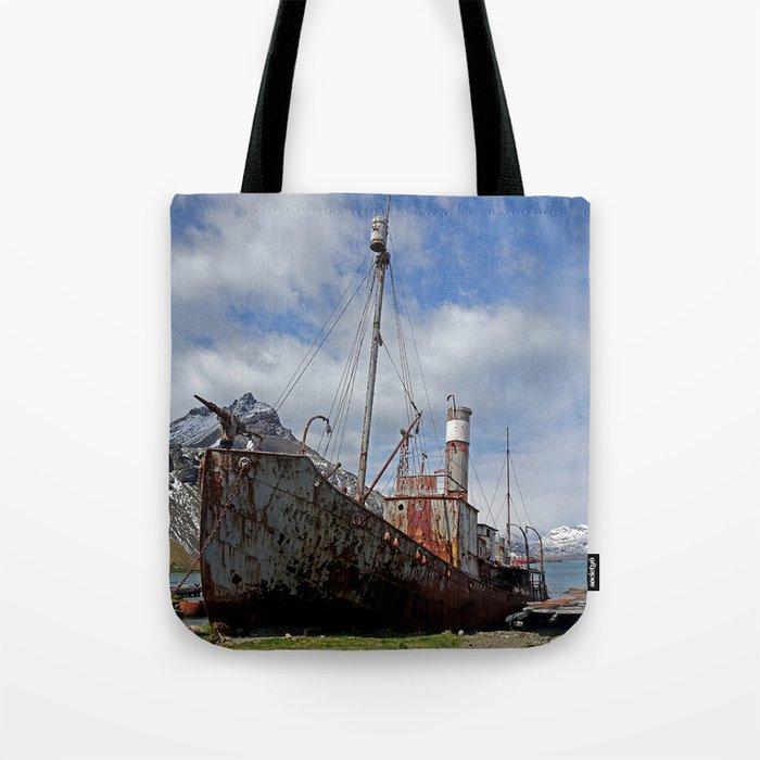 Whaling Ship Tote Bag