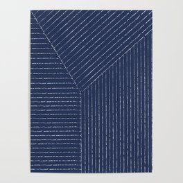 Lines / Navy Poster