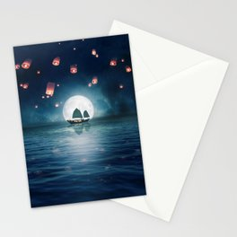 Travel through the Lights Stationery Cards