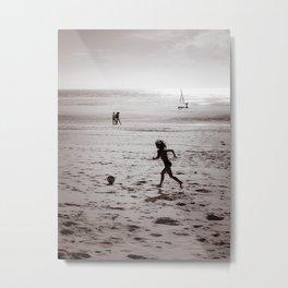 Foot Sea Metal Print