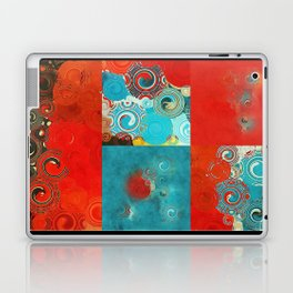 Swirly Red and Turquoise Mosaic Laptop & iPad Skin