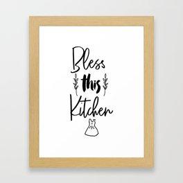 Bless This Kitchen, Kitchen Art Printable, Kitchen Quote Printable, Bless This Kitchen Art, Food Art Framed Art Print
