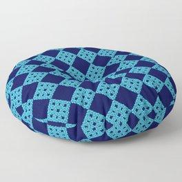 blue crochet crafts Floor Pillow