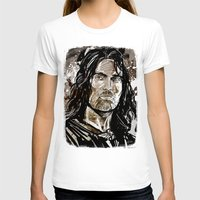 gondor T-shirts featuring Aragorn by Patrick Scullin