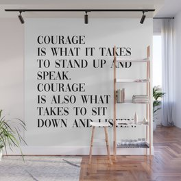 courage Wall Mural