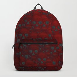 Subtle skull wall red Backpack