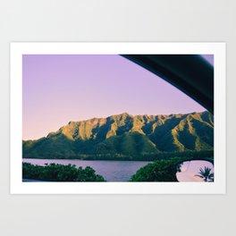 Hawaii Out the Window Art Print