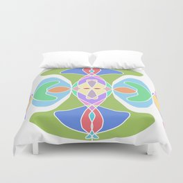 Crown Chakra Mandala Duvet Cover
