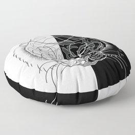 Tiger B&W Floor Pillow