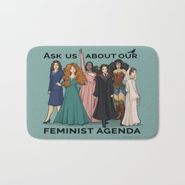 Feminist Agenda Bath Mat